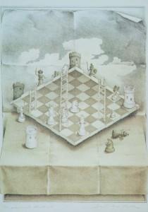 Das gekrümmte Schachbrett von Sandro Del-Prete